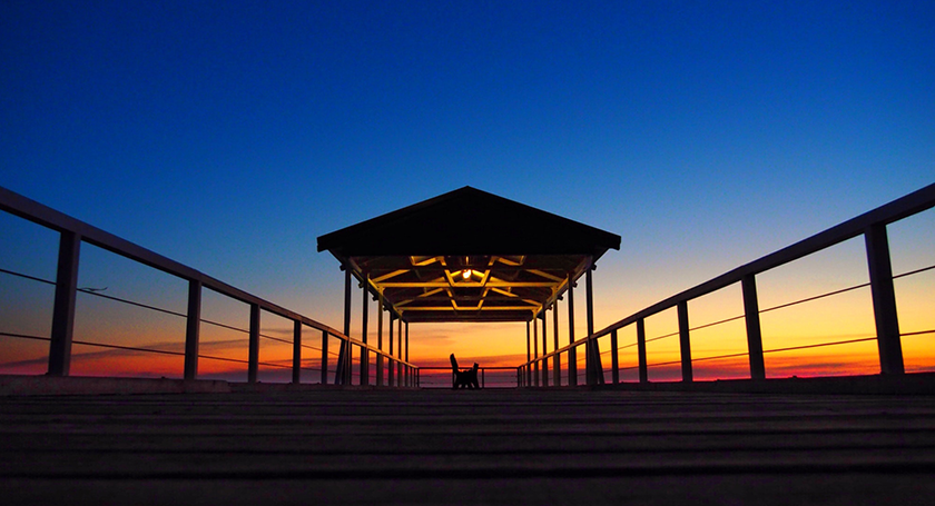 jetty and sunset