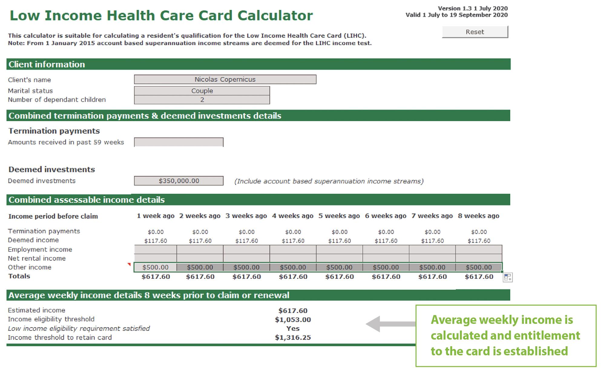 low income calculator